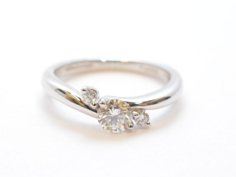 Pt950 プラチナ ダイヤリング 指輪 婚約指輪 エンゲージリング 7号 レディース【中古】【送料無料】