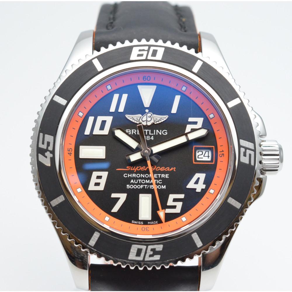 BREITLING ブライトリング A187BORSBA スーパーオーシャン42 リミテッドエディション 世界2000本限定 ブラック/オレンジ OH済み 自動巻き メンズ 腕時計 【中古】