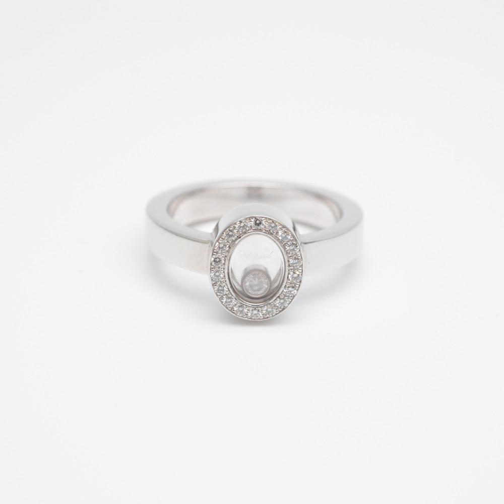 CHOPARD ショパール ハッピーダイヤモンド リング 指輪 K18WG ホワイトゴールド 11号【中古】【送料無料】