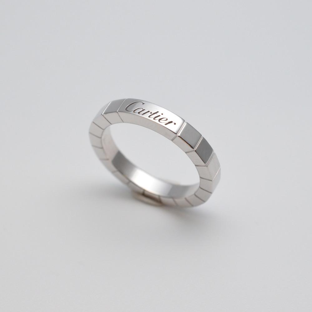 Cartier カルティエ ラニエールリング 指輪 K18WG ホワイトゴールド 51サイズ レディース【中古】【送料無料】