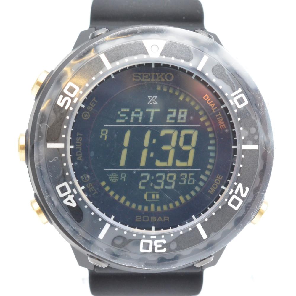 SEIKO セイコー SBEP005 PROSPEX プロスペックス ソーラー デジタル メンズ 腕時計 シリコンベルト 【中古】