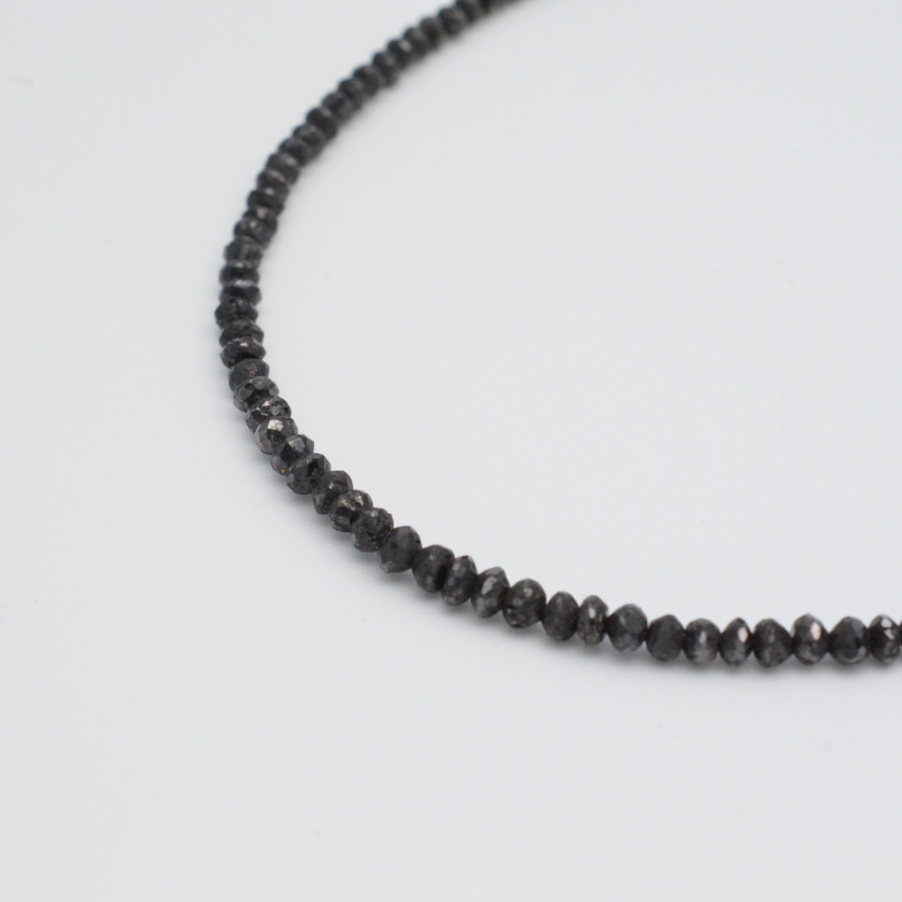 K18WG ブラックダイヤ ネックレス ペンダント ホワイトゴールド ダイヤモンド 42cm【中古】【送料無料】