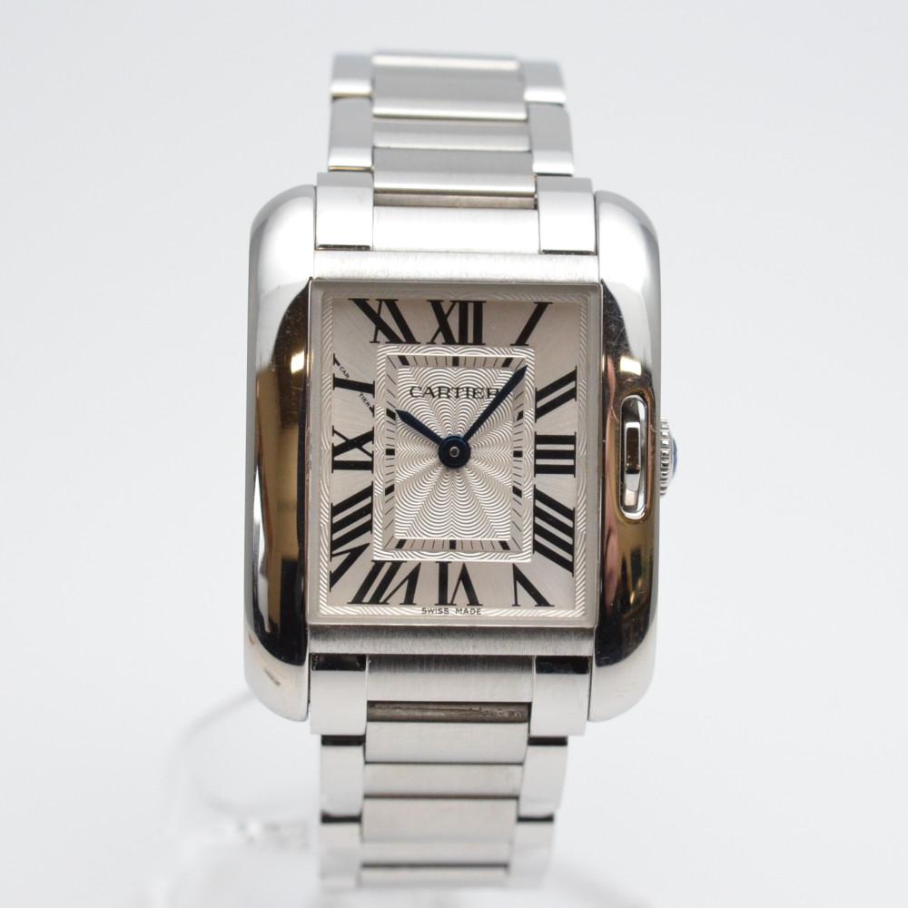 Cartier カルティエ W5310022 タンクアングレーズ SM クオーツ時計 レディース時計 シルバー【中古】【送料無料】