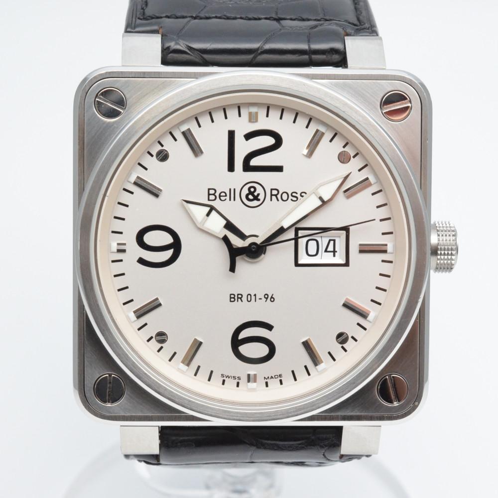 BELL&ROSS ベル&ロス BR01-96W メーターデイト 自動巻き メンズ 腕時計 デイト表示 白文字盤 OH済み 【送料無料】【中古】
