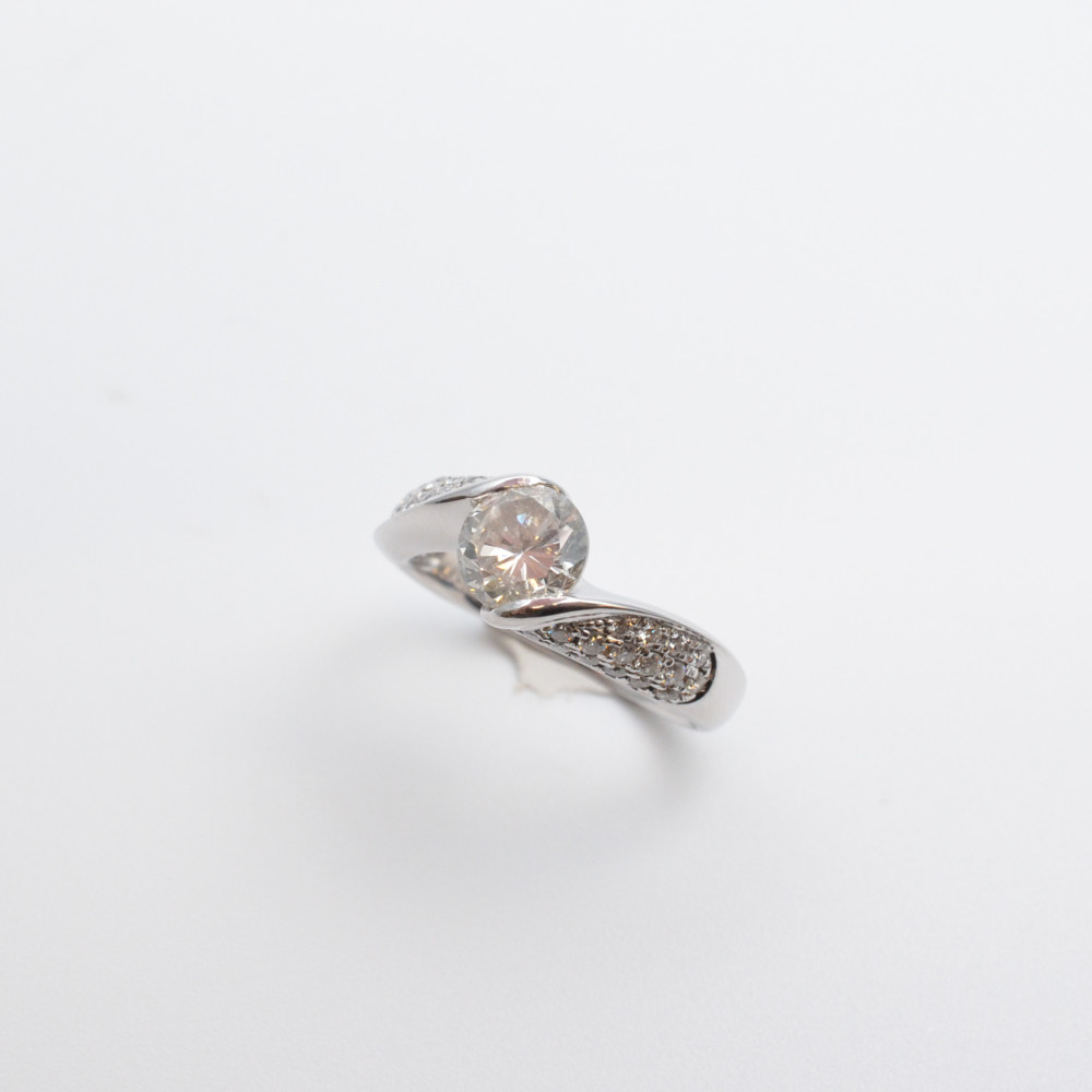 Pt900 プラチナ ダイヤモンドリング 指輪 1.272ct 0.30ct 13号【中古】【送料無料】