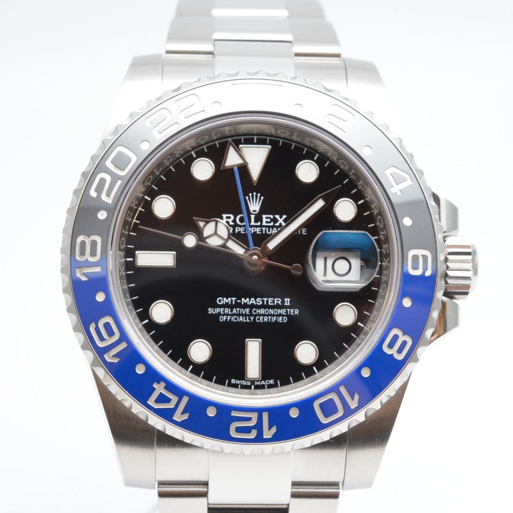 ROLEX ロレックス 116710BLNR GMTマスター2 ランダム番 2018年8月海外記載 青黒ベゼル バットマン 外装仕上げ済 メンズ 腕時計【送料無料】【中古】