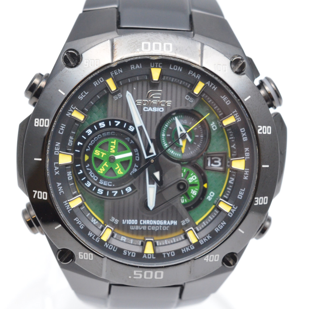 CASIO カシオ エディフィス EQW-M1100 電波ソーラー時計 メンズ 腕時計 【中古】