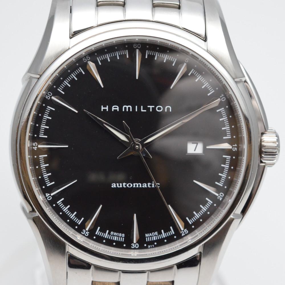HAMILTON ハミルトン H32715131 ジャズマスター ビューマチック メンズ 自動巻き 腕時計 黒文字盤 シンプル ビジネス カジュアル 【送料無料】【中古】