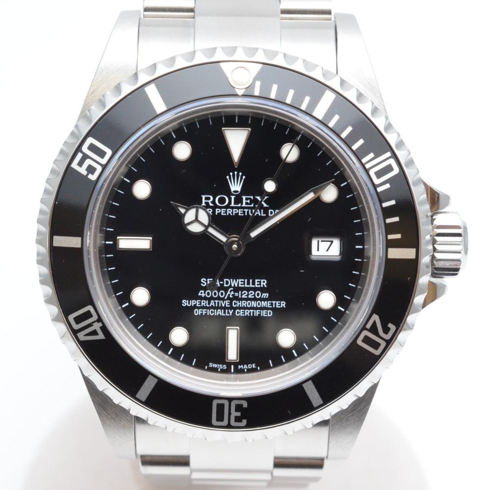 ROLEX ロレックス 16600 SEA-DWELLER シードゥエラー Z番 2006年頃 黒文字盤 OH済み メンズ 腕時計 【中古】