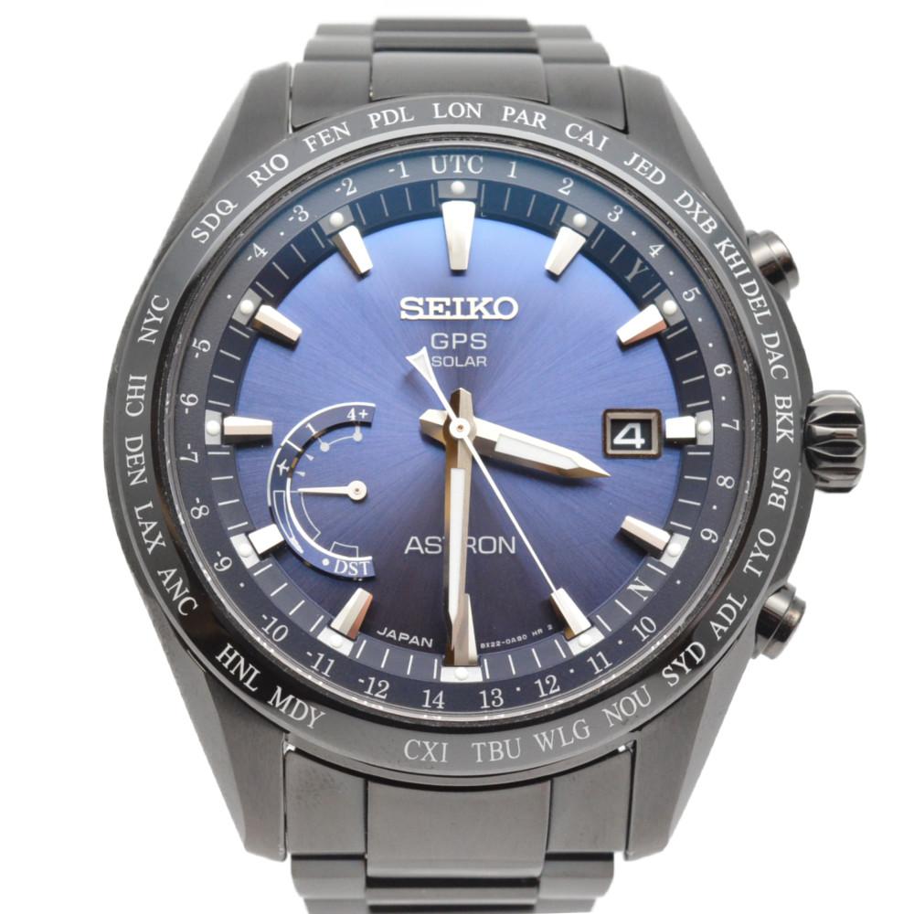 【SEIKO】セイコー SBXB089 アストロン GPSソーラー ワールドタイム チタン ブラック 腕時計 メンズ 【中古】
