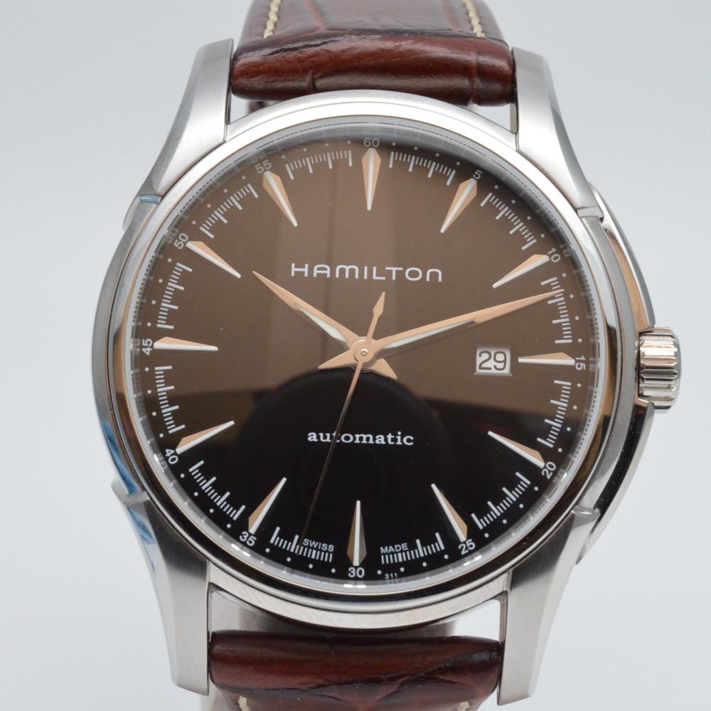 HAMILTON ハミルトン H327150 ジャズマスター 自動巻き 黒文字盤 スケルトン 腕時計 カジュアル/ビジネス メンズ 【中古】