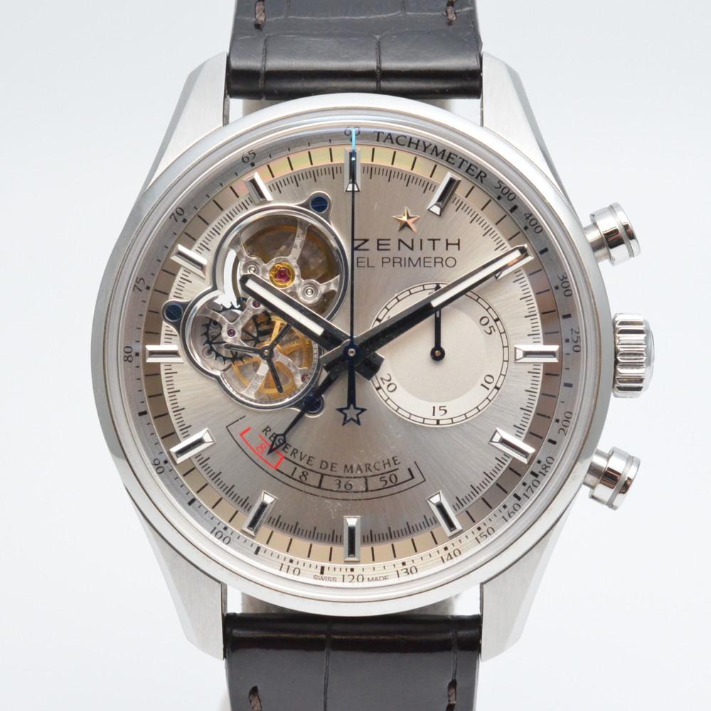 【ZENITH】ゼニス エルプリメロ クロノマスターオープン 03.2080.4021 シルバー文字盤 メンズ 腕時計 【中古】