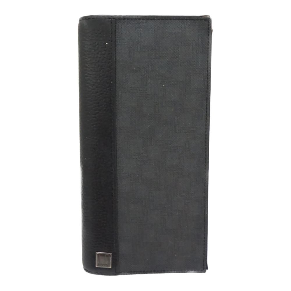 この商品はかんてい局盛岡店から発送いたします DUNHILL 高級品 ダンヒル L2LZ10Z 2つ折り財布 年間定番 グレー 中古 折り財布 長財布 メンズ ブラック