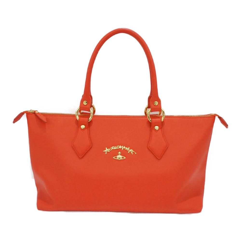この商品はかんてい局盛岡店から発送いたします Vivienne Westwood ヴィヴィアン ウエストウッド アングロマニアトート レッド系 [再販ご予約限定送料無料] 肩掛けバッグ ショルダー ゴールド金具 中古 赤 トートバッグ 期間限定で特別価格 レディースバッグ