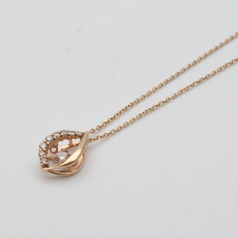 この商品はかんてい局盛岡店から発送いたします K10 ダイヤネックレス ダイヤモンド0.14ct 長さ約40cm トラスト 重さ約1.4グラム レディース 中古 アクセサリー 値下げ ジュエリー