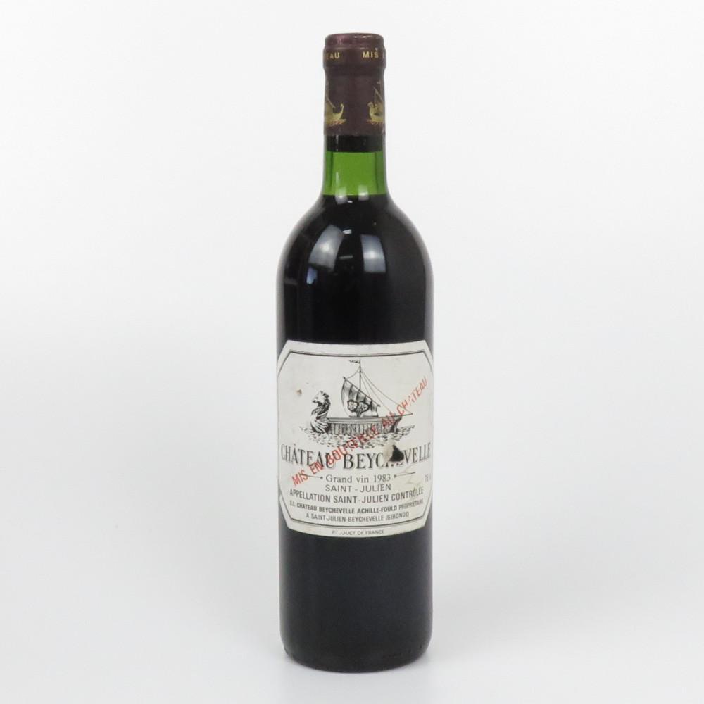 この商品はかんてい局盛岡店から発送いたします CHATEAU BEYCHEVELLE 1983 シャトー 供え ベイシュヴェル フランス 赤 未開栓 750ml 割り引き 中古 ワイン 14度 辛口