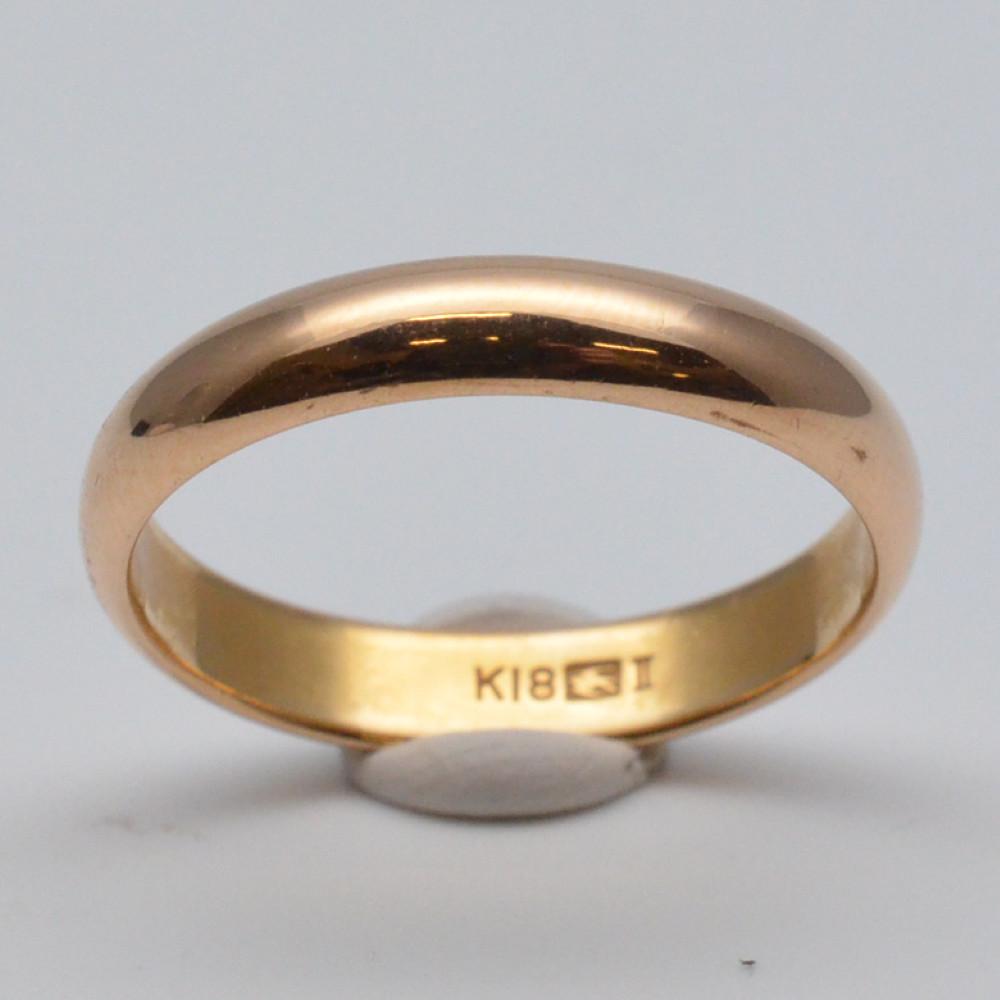 この商品はかんてい局盛岡店から発送いたします K18 甲丸リング ゴールド 金 約16.5号サイズ 重量約4.6グラム アクセサリー 通販 激安◆ 指輪 割引 レディース ジュエリー 中古 リング メンズ