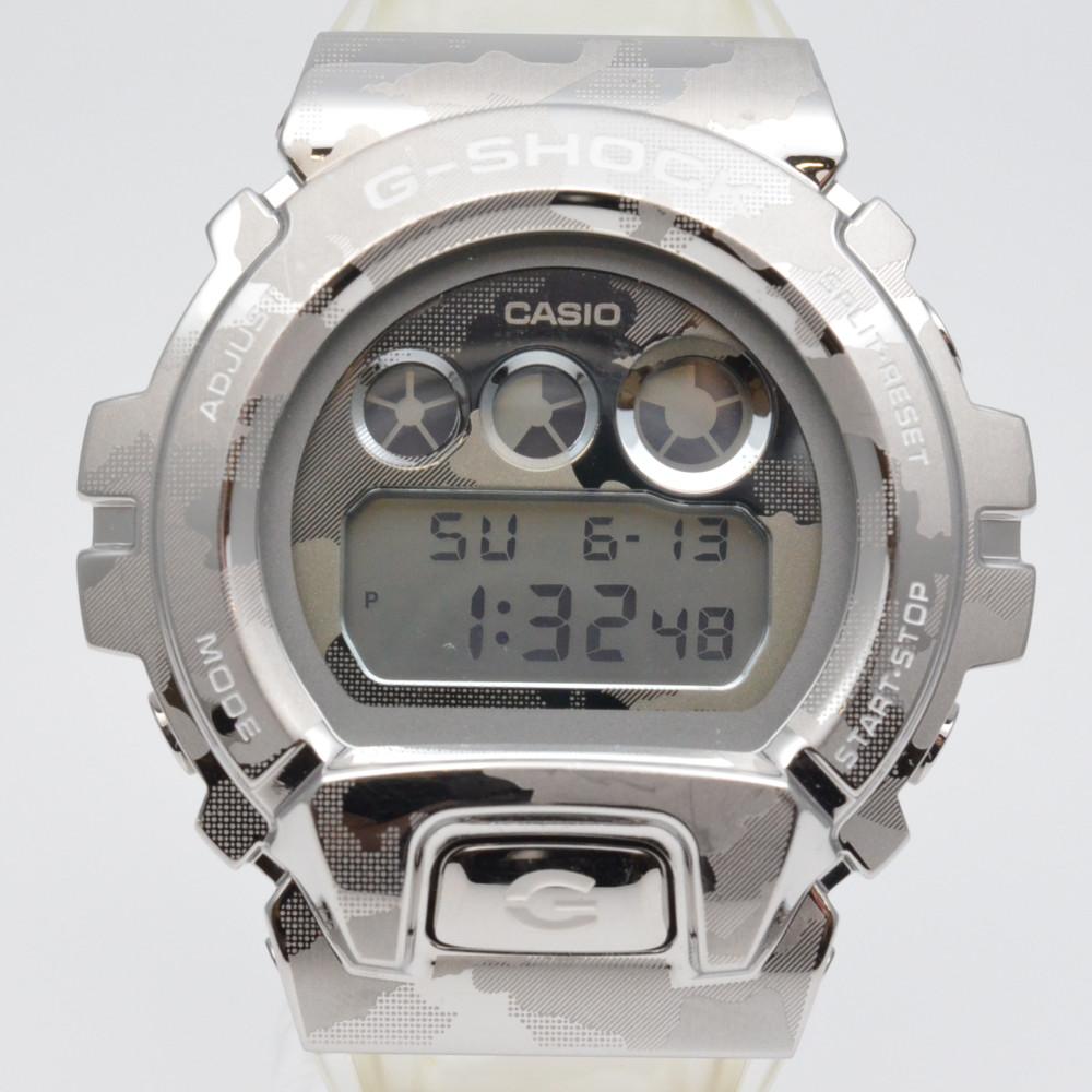 この商品はかんてい局盛岡店から発送いたします CASIO カシオ GM-6900SCM-1JF G-SHOCK スケルトンカモフラージュ クリアベルト デジタル表示 中古 人気 メンズ腕時計 シルバー文字盤 新品 送料無料 クォーツ