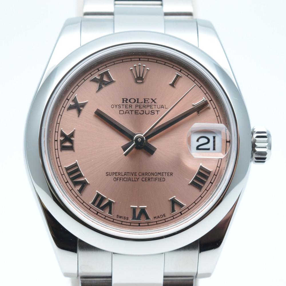 この商品はかんてい局盛岡店から発送いたします ROLEX ロレックス SALENEW大人気 178240 デイトジャスト 即出荷 M番 2007年製造 2021年7月OH 仕上済み ピンク文字盤 31mm 中古 男女兼用 腕時計 ステンレススチール ローマン ボーイズ