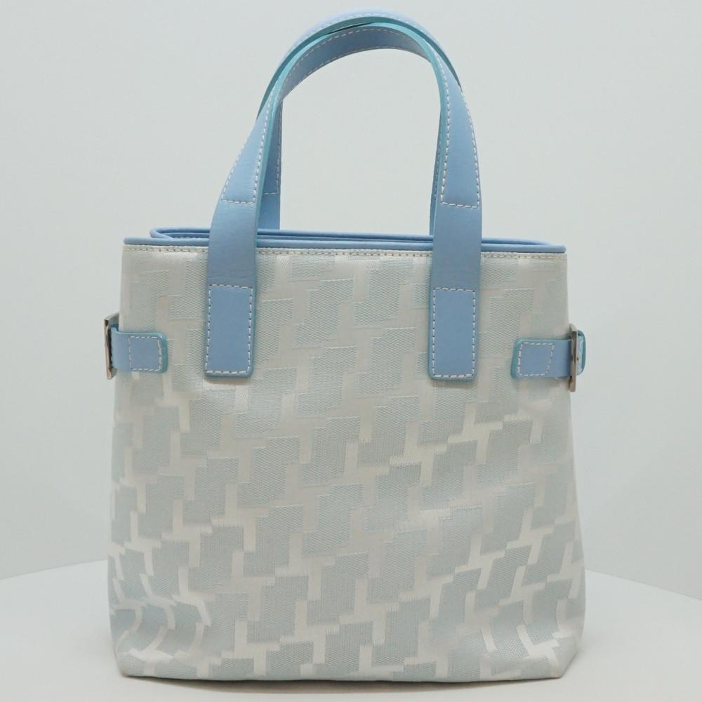 永遠の定番モデル この商品はかんてい局盛岡店から発送いたします LANSEL ランセル トートバッグ レディースバッグ ハンドバッグ 鞄 送料込 キャンバス 中古 ライトブルー