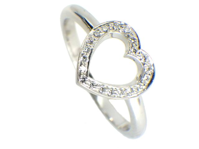 TIFFANY ティファニー センチメンタルハートリング ダイヤモンド付 サイズ約#9 Pt950/プラチナ【仕上げ済み、程度A】【中古】