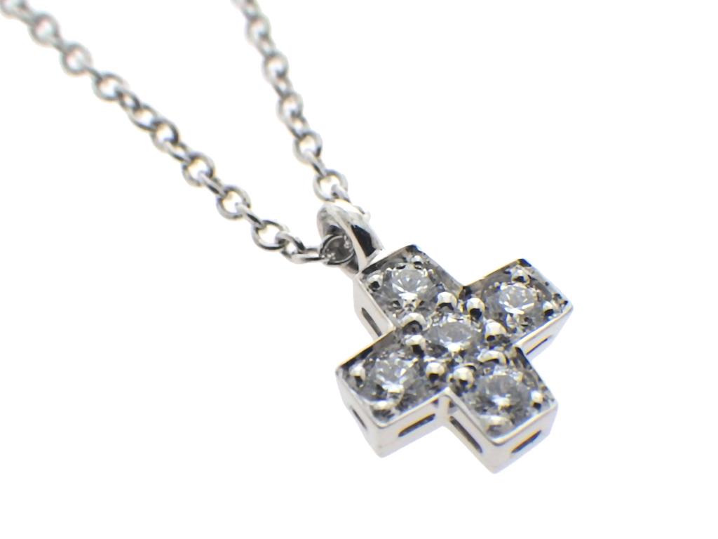 TIFFANY ティファニー クルーシフォームクロスネックレス ダイヤモンド Pt950 ダイヤモンド仕上げ済み、程度AvI76gyYbf