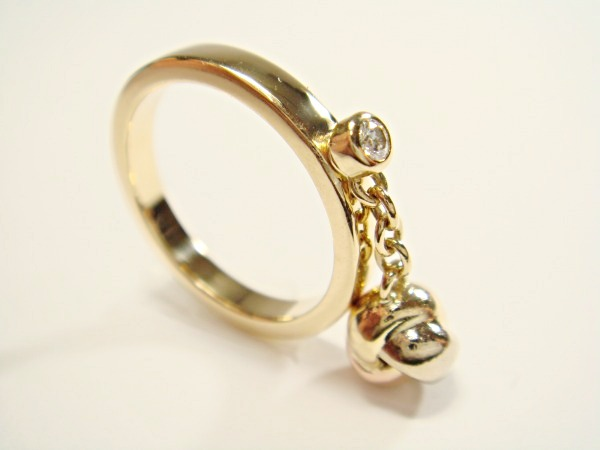 Diamond Size 50 About 9 5 Issue 1 P Baby Trinity Ball Ring Cartier K18 Three Color Gold Yg Wg Pg