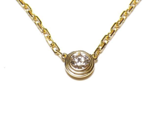CARTIER カルティエ ディアマン レジェ ネックレスSM 1Pダイヤモンド k18PG/ピンクゴールド 【仕上げ済み、程度A】【中古】
