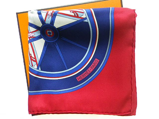 HERMES エルメス カレ70 スカーフ 「WASHINGTON'S CARRIAGE」柄 シルク100% 正規BOX付【中古A】【中古】