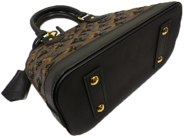 LOUIS VUITTON Louis Vuitton Monogram Eclipse Alma BB M40418 handbags Noir sequin