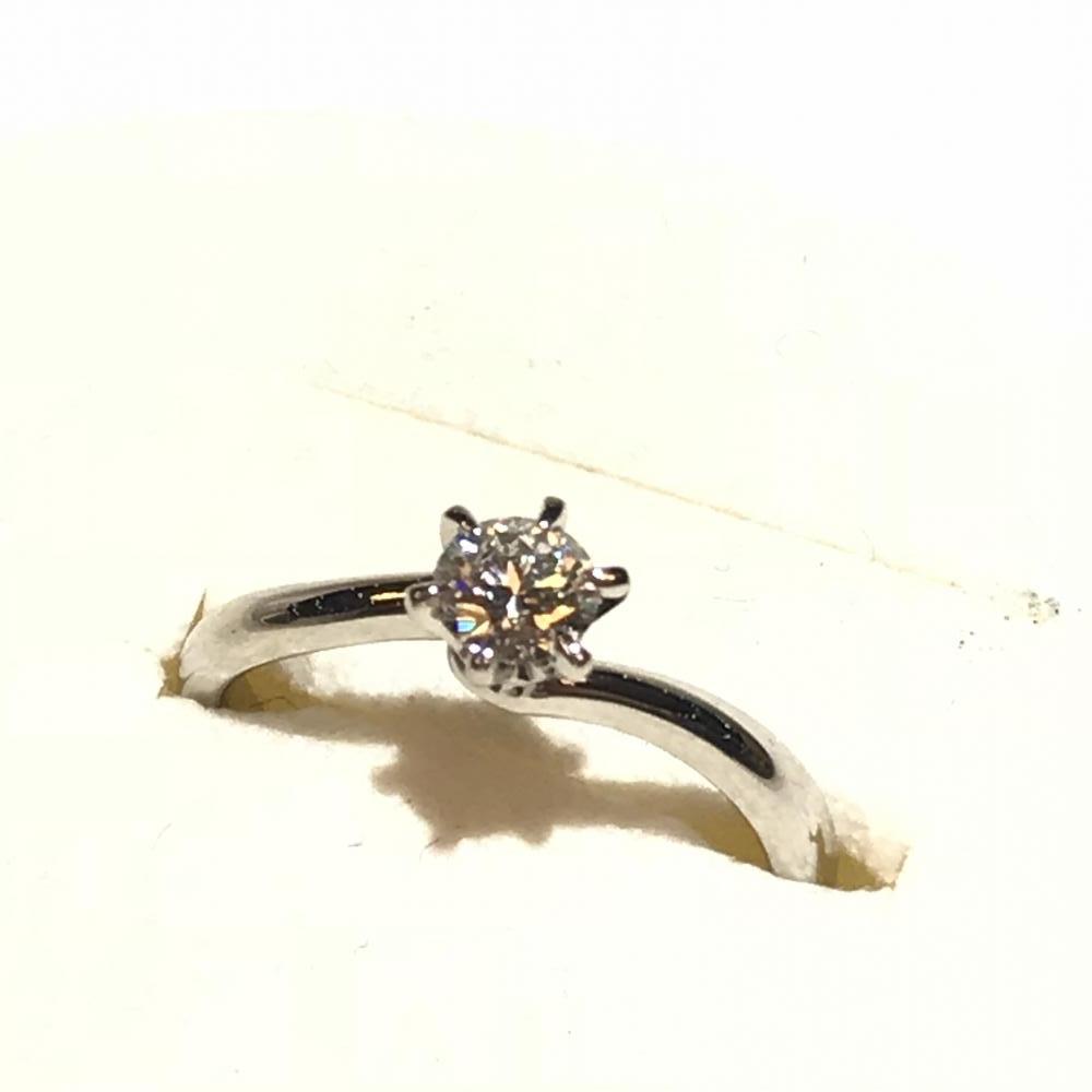 4℃ ヨンドシー Pt900 D0.278ct ダイヤモンド 9号リング 指輪 鑑定書付き ■中古■参考定価351,000円