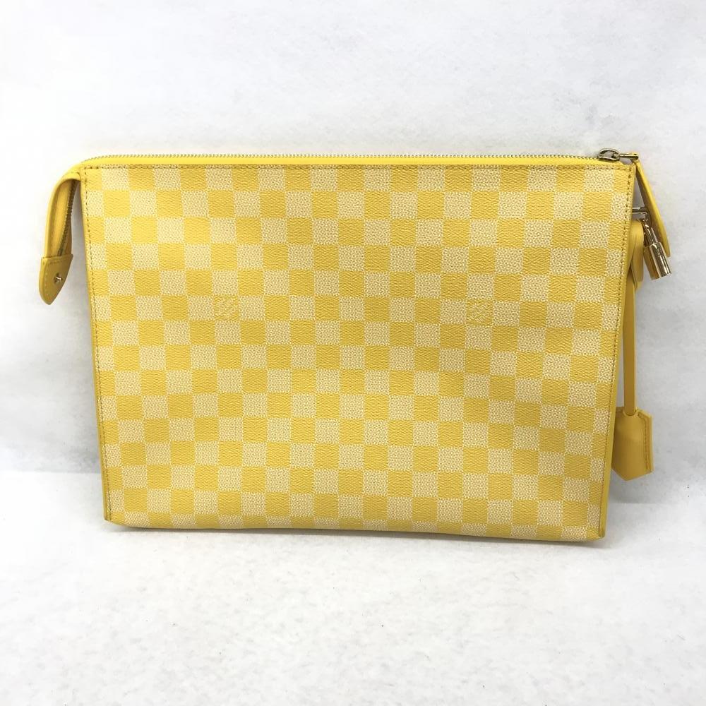 ルイヴィトン LOUIS VUITTON / ダミエ N41316 クラッチバッグ キット 黄色 イエロー メンズ 書類 セカンドバッグ 布袋