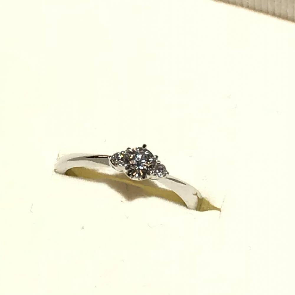 ヨンドシー 4℃ Pt950 ダイヤモンドD0.2ct リング 指輪 D VVS2 EX サイズ10号 鑑定書付属