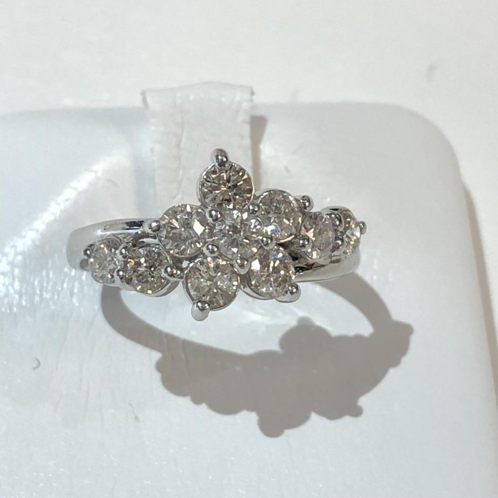 ダイヤモンド リング D1.0ct Pt900 プラチナ サイズ約12号 レディース 指輪 アクセサリー レディース かわいい 管理YH2502