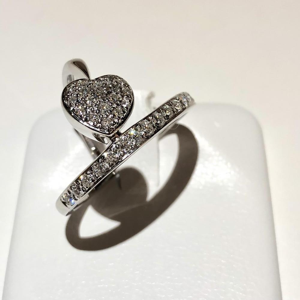ダイヤモンド メレ 0.50ct リング デザインリング 指輪 K18WG ホワイトゴールド サイズ約11号 レディース アクセサリー 管理YH2505