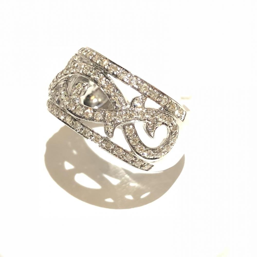 メレダイヤ D0.45ct リング K18WG ホワイトゴールド 指輪 サイズ約12号 アクセサリー レディース かわいい 貴金属 管理YH2511