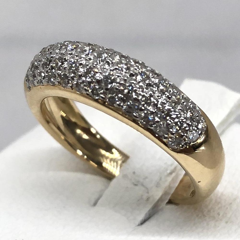 メレダイヤ リング サイズ約10.5号 K18 ゴールド 貴金属 指輪 レディース アクセサリー ジュエリー 小物 管理YH2523