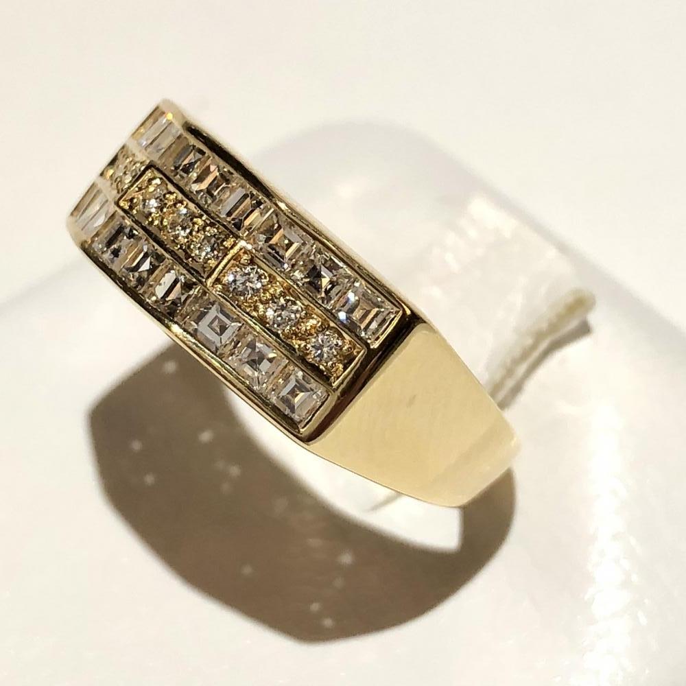 メレダイヤ D0.76ct リング K18 ゴールド サイズ約12号 レディース アクセサリー 指輪 ジュエリー 管理YH2451