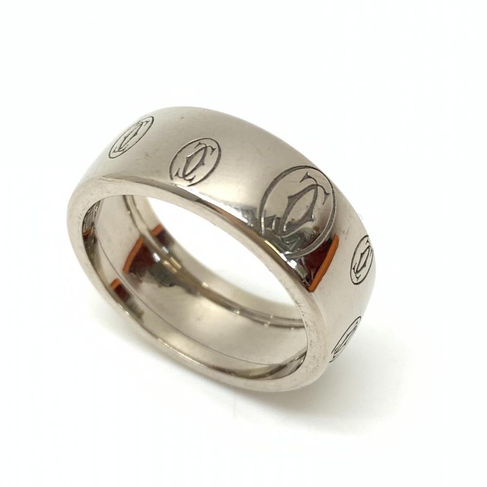 CARTIER カルティエ ハッピーバースデーリング 指輪 アクセサリー ジュエリー ホワイトゴールド K18WG 750 サイズ18号 管理RT18374
