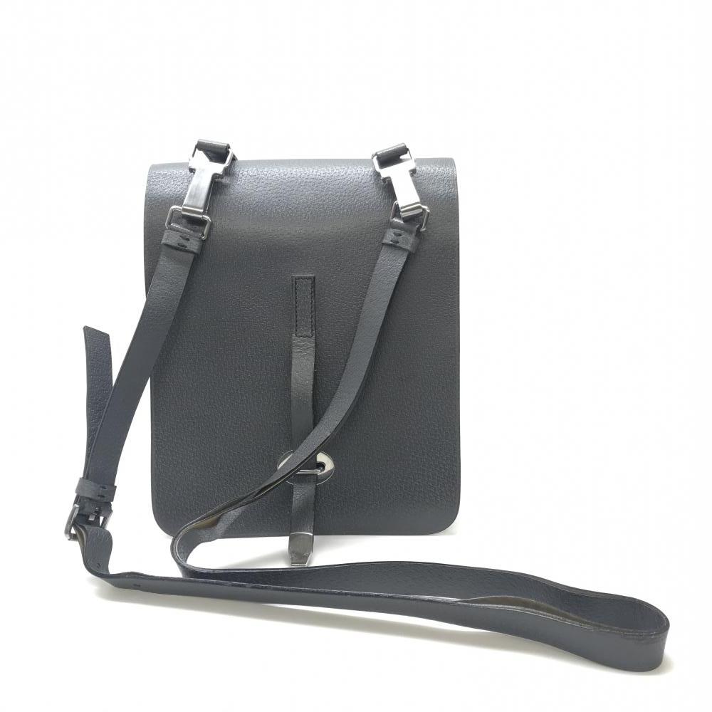 PRADA プラダ VA0045 ショルダーバッグ 縦型 グレー シルバー金具 ユニセックス 内ポケット有り ショルダー剥がれ 中古 管理HS18378