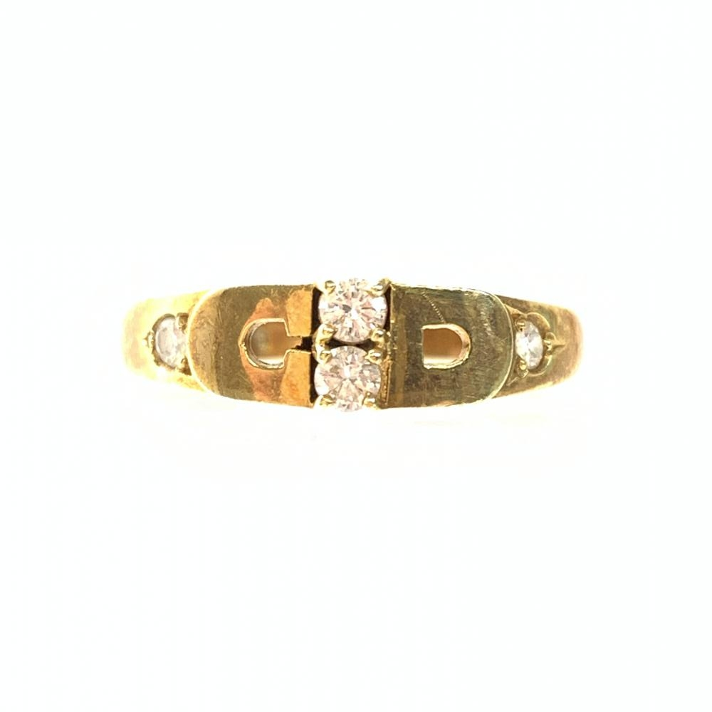 Dior ディオール K18 指輪 リング 3.4g D0.09ct アクセサリー ジュエリー イエローゴールド レディース 婦人雑貨 ブランド 管理RY18459