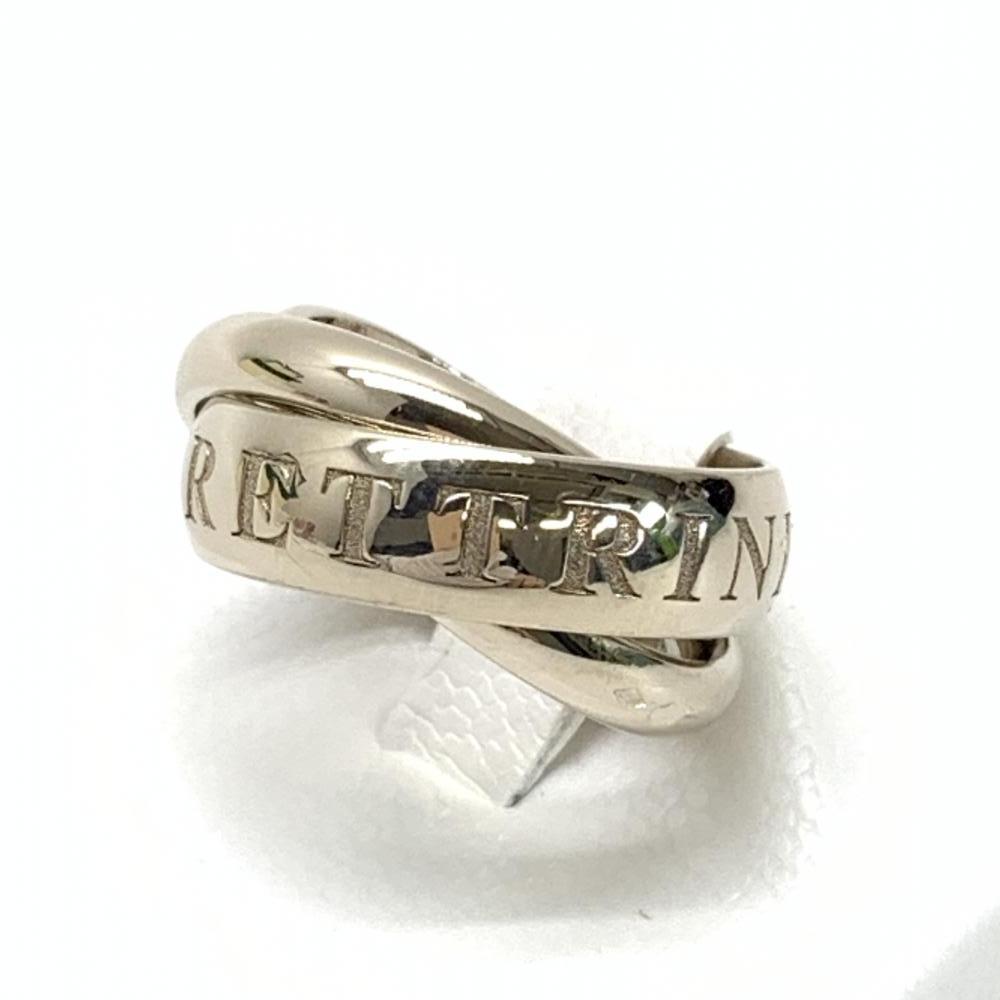 美品 CARTIER カルティエ トリニティリング クリスマス限定品 3連リング 指輪 アクセサリー ジュエリー K18WG サイズ8号 管理RT18845