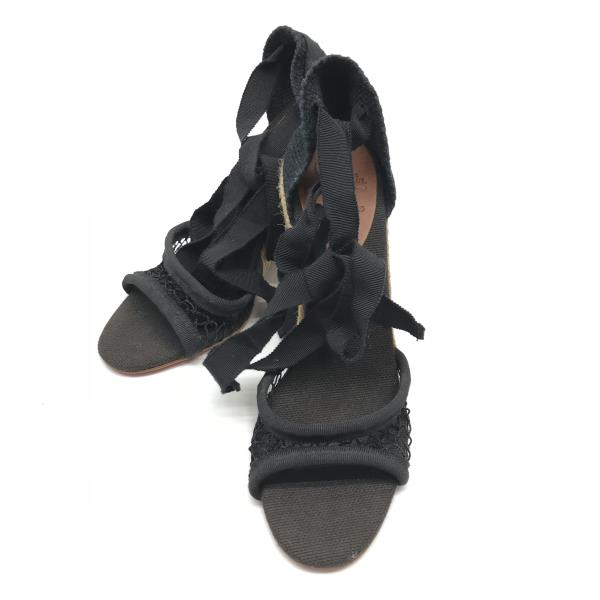 Christian Louboutin クリスチャンルブタン 靴 くつ クツ サンダル ミュール ウェッジソール ヒール レディース 女性 婦人雑貨 黒 ベージュ 管理RY18001782