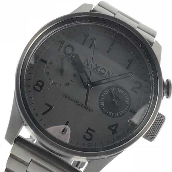 NIXON ニクソン A976-632 サファリデラックス デイデイト デザインハイライト ステンレス クオーツ 電池式 男性 メンズ腕時計 ウォッチ ビッグケース ブラック 黒 管理YI18002460