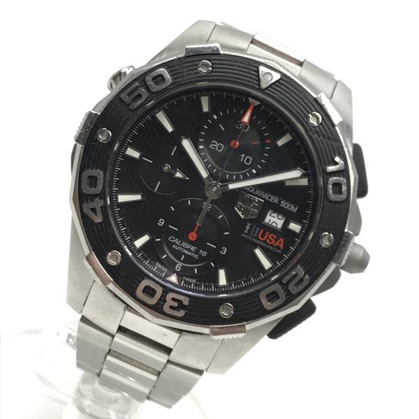 TAG-HEUER タグホイヤー アクアレーサー 腕時計 CAJ2112 アメリカズカップ キャリバー16 オートマチック クロノグラフ デイト SS AT メンズ ブランド 管理RY19000161