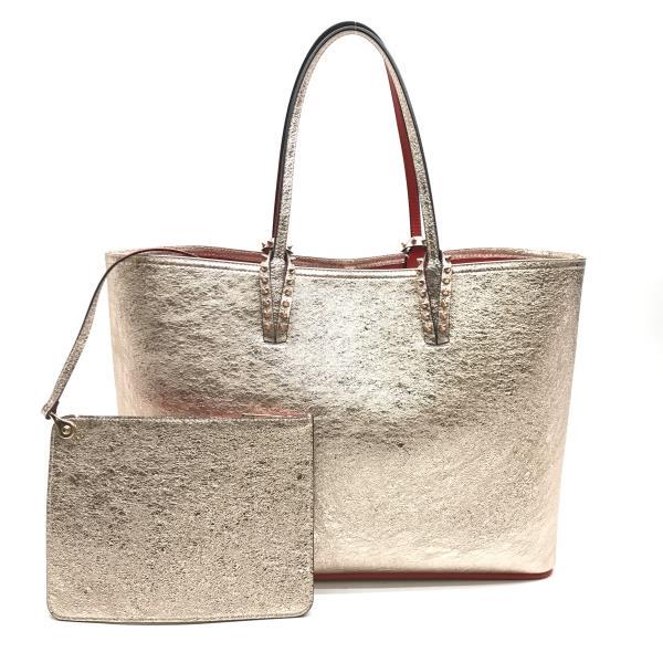 f4aaff0a33 Beautiful article Christian Louboutin クリスチャンルブタン CABATA shoulder tote bag  11851169 Rose gold Lady's brand management ...