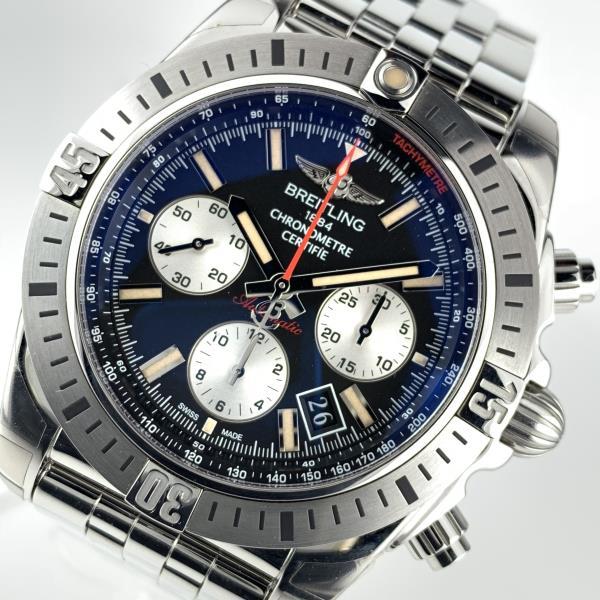 美品 BREITLING ブライトリング AB01154G/BD13 クロノマット 44 エアボーン 30周年記念モデル 自動巻き メンズ 腕時計 6針 管理YI19000784