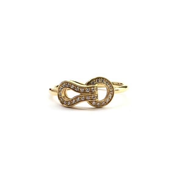 Cartier カルティエ アグラフリング 指輪 リング パヴェ K18YG ダイヤモンド サイズ約11号 レディース ブランド 管理RY19001284