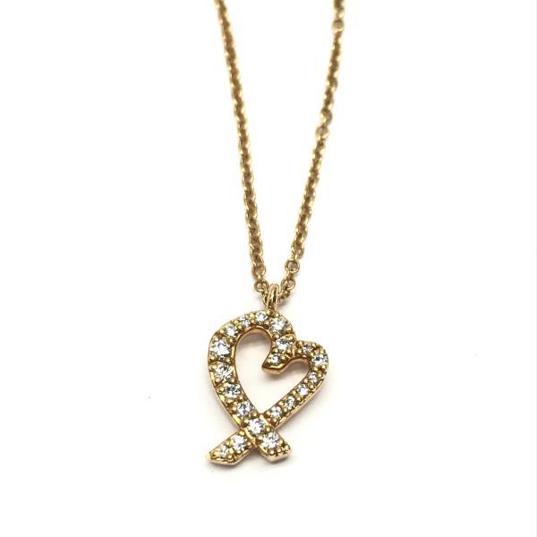TIFFANY ティファニー ラビングハートネックレス K18YG イエローゴールド ダイヤモンド アクセサリー ジュエリー ハートモチーフ ブランド 管理RY18001052
