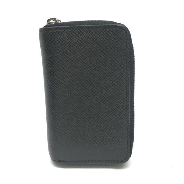 LOUIS VUITTON ルイヴィトン M32832 コインパース タイガ メンズ レザー アルドワーズ 黒 小銭入れ カード入れ ラウンド 財布 LV 管理YK19002080